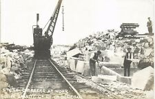 More details for ? tonbane quarry co. donegal. irish granite co. stone dressers at work. railway.