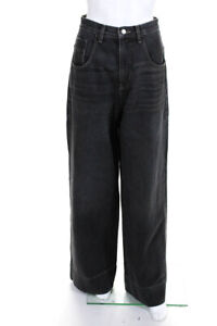 TRE by Natalie Ratabesi Womens High Rise Wide Leg Jeans Gray Size 25 LL19LL
