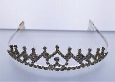 Bridal,Pageant,Silver, Rhinestone,Crystal,Prom,Wedding,Crown Tiara,#12,Comb New!