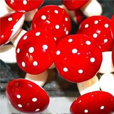 6 Artificiale FUNGO Picks-Rosso Pick-Autunno Inverno Decorazioni