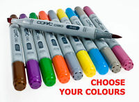 Copic Ciao Twin Tip Marker Pens ( All Colours - Codes E, R & Black)