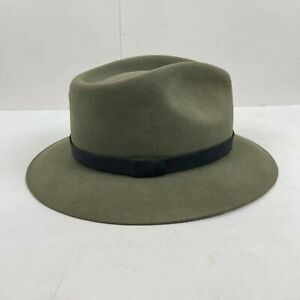 VTG Royal Stetson Hat Sage Green Sz 7 5/8 Cabela's Three Forks Dress Fedora 61