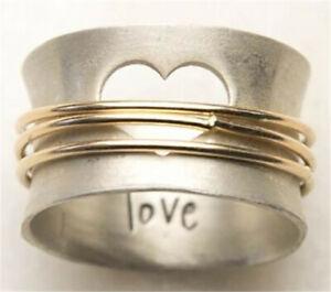 Women 925 Silver Rings Turkish Handmade Retro Ring Wedding Jewelry Size 6-10
