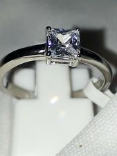SOLITAIRE ENGAGEMENT SIMULATED DIAMOND STAINLESS STEEL RING USA 5