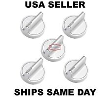 5 Stainless Steel Control Knobs W10698166 W10594481 For Whirlpool Stoves Range