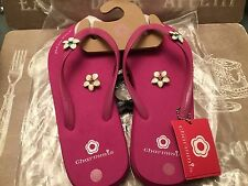 Charmmis,PINK Flip Flops with 2 pair of attachable studs !!!