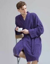 Unifarbene Herren-Bade-Morgenmäntel aus Baumwolle