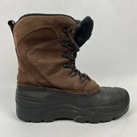 Quest Men's Winter Hiking Boots Brown Leather Thinsulate Ultra Size 10 MFW00076