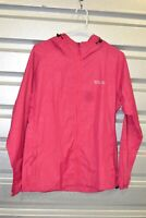 Women's Windproof Lightweight Hooded Raincoat Windbreaker Jacket - size M/Pink