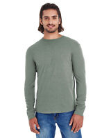 econscious Men's Heather Sueded Long Sleeve Jersey EC1588 S-2XL