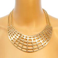 NEU Statement Kette Halskette blogger Collier Choker groß Vintage auffällig gold