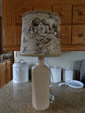 Folk Art/By the Artist Lamp Brown Frosted (Vintage Golfers Shade)