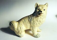 Antique smiling solid European Eskimo dog Samoyed American Eskimo husky Spitz *