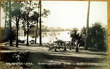 1930 Winterhaven, FL Realphoto Postcard: Spring Lake - Florida