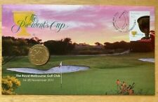 2011 The Royal Melbourne Golf Club - The President's Cup Cover & $1 Coin
