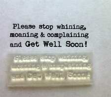Get Well Soon Typewriter Font Fun Clear Stamp For Handmade Cards