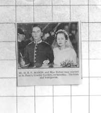 1935 Mr Hr Mason Weds Miss Rideut At St Peters Church Cranley Gardens