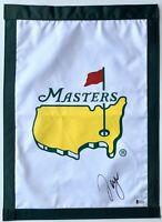 Sergio Garcia signed Masters flag augusta golf 2021 masters pga beckett coa