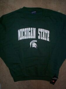 ($55) Michigan State Spartans ncaa Jersey Sweatshirt Adult MEN'S/MENS (s-small)
