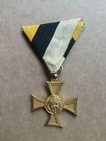 BULGARIA KING BORIS III 10 YEARS EXCELLENT SERVICE MILITARY ORDER MEDAL