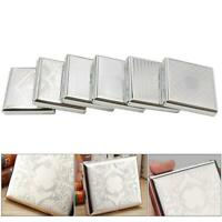 Stainless Steel Cigarette Case Fashion Yn613 Embossed Cigarette Case~ Metal K0M4