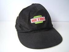 Vintage Metro Hat Black Snapback Baseball Cap