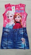 Frozen die Eiskönigin Kleid Jeans Optik gr.134/140 Neu mit Etikett