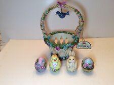"""Jim Shore Heartwood Creek """"Basketful Of Surprises� Easter Basket #4031691"""