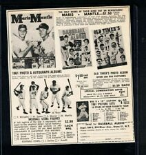 """New listing 1962 Mickey Mantle, Ted Williams 5""""x5"""" Hartland Statue Ad in SPORT Magazine EX"""