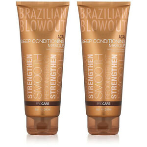 Brazilian Blowout Acai Deep Conditioning Masque for Unisex, 8 Oz ( Pack of 2 )