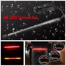 48 LED 12V Motorcycle Flexible Light Strip Rear Tail Brake Stop Turn Signal Lamp