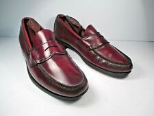 Dexter Burgundy Penny Loafers Men's size 9.5 D made in Usa