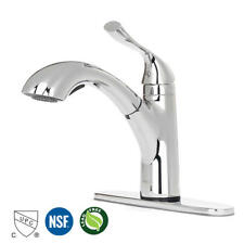 Modern Commercial High Arc Single Handle Chrome Pull Out Kitchen Sink Faucet