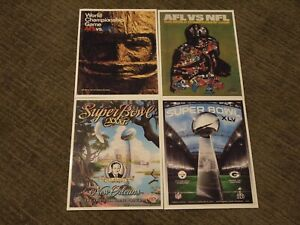 Green Bay Packers Program Cover 8x10 Photos; 4 Super Bowl Wins #s 1, 2, 31, & 45