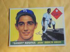 1955 Topps Sandy Koufax Brooklyn Dodgers #123 Baseball Card