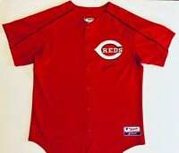 Authentic Majestic Cincinnati Reds MLB Medium Jersey Signed by #39 Aaron Harang