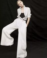 Sold Out J Crew Collection Ultra Wide Leg Cotton Pants Size 0 In White