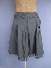ESSENTIEL Antwerp Designer Grey Pleated Skirt Size 40 UK 12