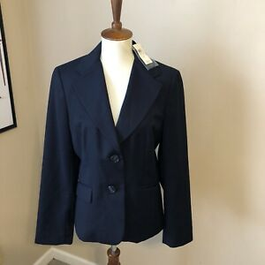 NWT Ann Taylor black businees blazer size 8 , 2 button dry clean orig $218