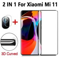 2 in 1 Screen Protector Protective Glass For Xiaomi mi 11 Back Camera Lens film