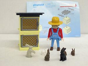 Hasenzüchter mit Stall und Tiergehege und mehreren Tieren von Playmobil