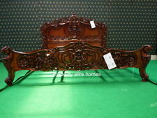 6' Super King size  Mahogany french style Rococo bed designer baroque furniture