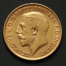 Demi souverain or George V Années variées Half sovereign gold coin random year