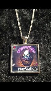 Retro Gaming Necklace And Keyring Playstation PS1 Oddworld Abes Odysee