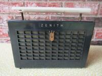 Vintage Zenith Tube AM Radio Model Z400B Gets Power Works