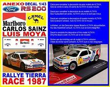 ANEXO DECAL 1/43 FORD RS 200 CARLOS SAINZ RALLYE RACE 1987 (09)