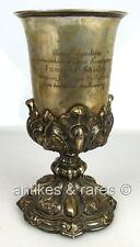 Pokal 13 Lot (Ag) Silber verliehen an Commandanten Immanuel Schaufuss 1867 gewid