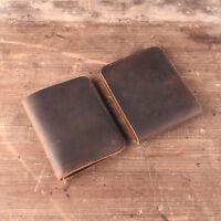 Handmade Genuine Leather Men's Wallet Purse Card Billfold Vintage Cash Retro