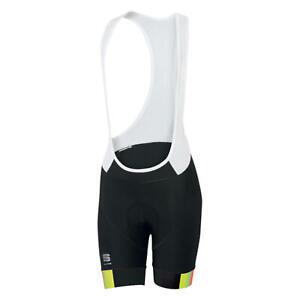 Sportful BodyFit Pro Bib Women's Cycling Bib Shorts Black/Yellow Fluorescent