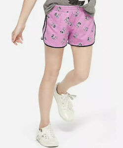 Justice Girl's Size 14-16 RACCOON Pompom Print Shorts New with Tags